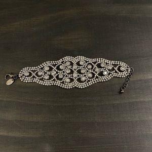 Charming Charlie bracelet. Black with diamonds.
